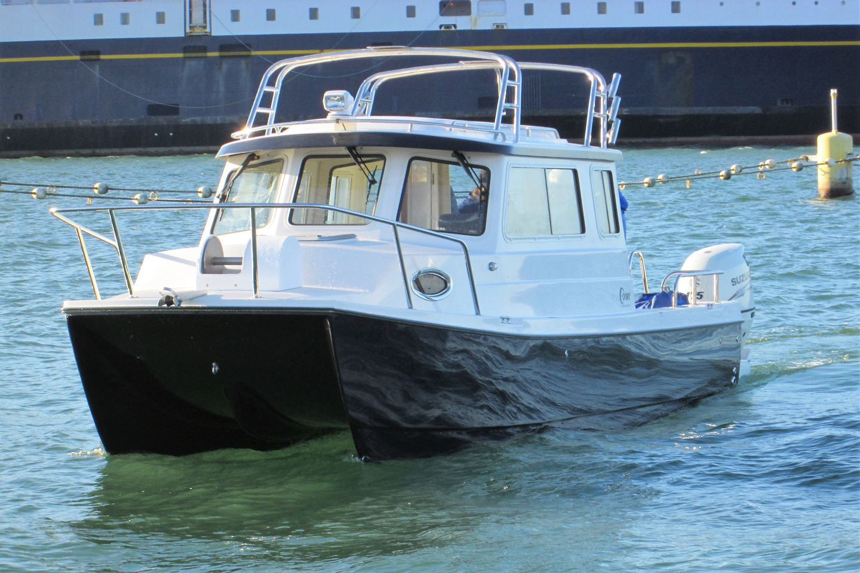 Our 25' TomCat Catamaran | C-Dory Boats